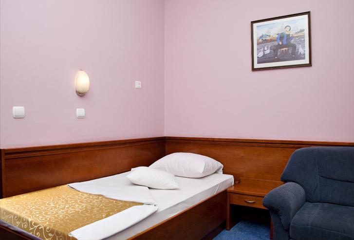 Jednokrevetna soba hotela Norcev